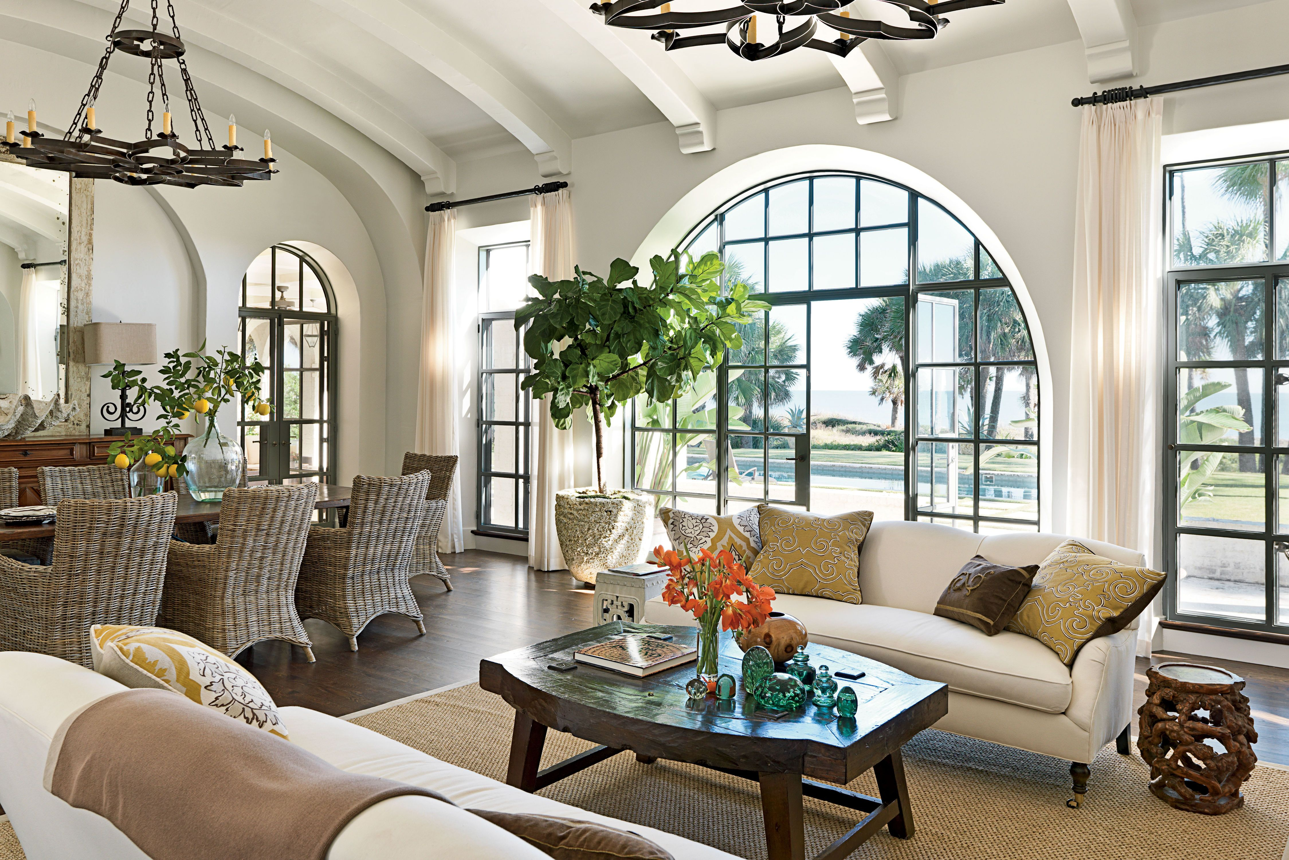 New Home With Old World Style Mediterranean Living Rooms Spanish Decor Mediterranean Decor