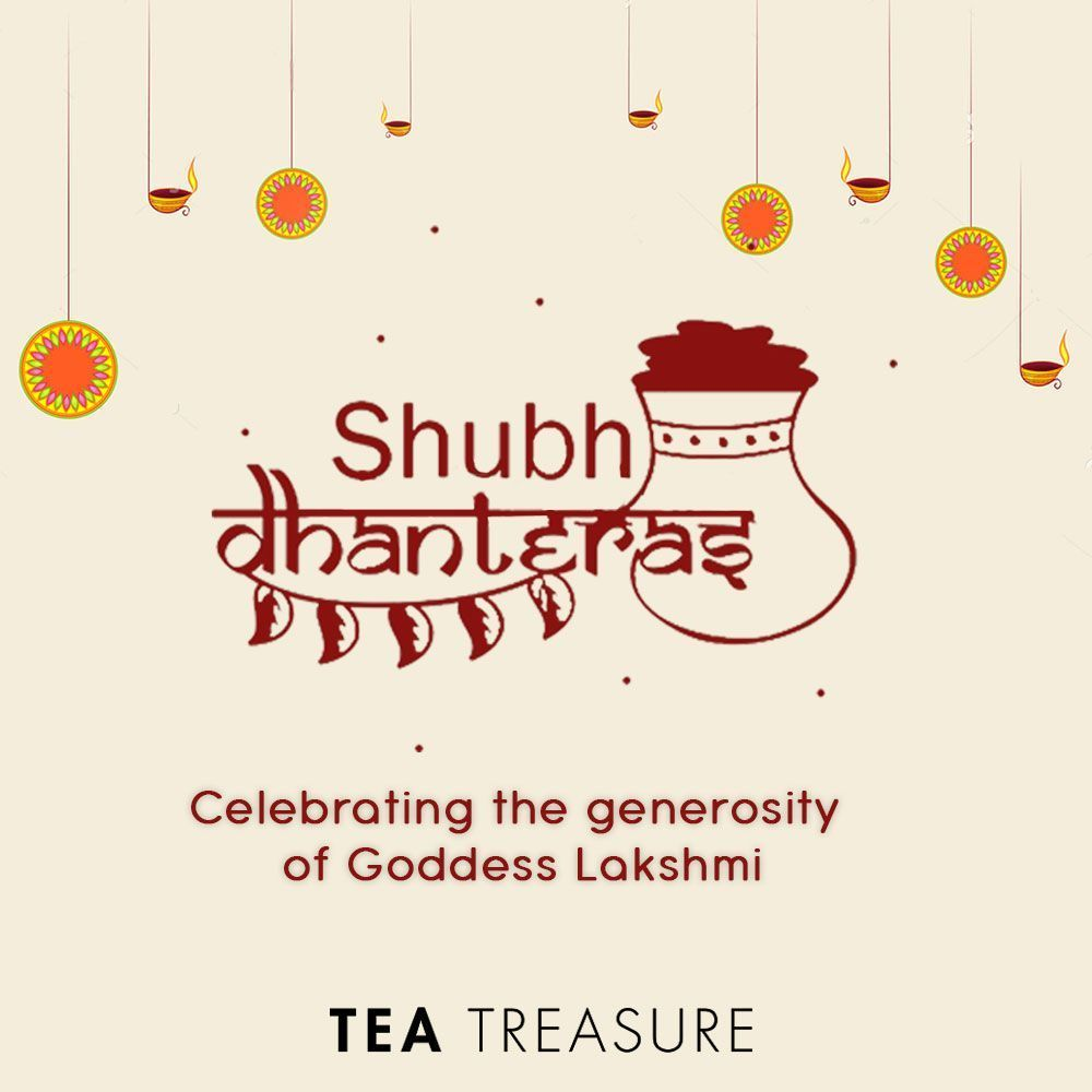 May Goddess Lakshmi keep your coffers full of wealth. Wishing you a very happy Dhanteras!