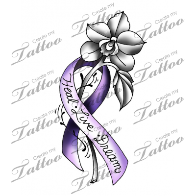 Marketplace Tattoo Survivor Ribbon Flower 28052 Flower Wrist Tattoos Cancer Ribbon Tattoos Pink Ribbon Tattoos