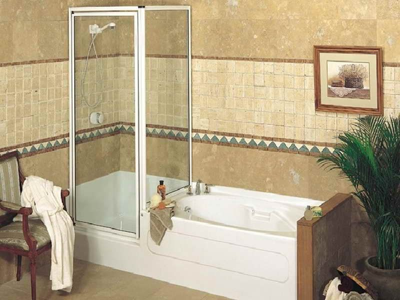 Small Corner Tub Shower Combo  Hot Tubs & Jacuzzis  Pinterest Prepossessing Corner Soaking Tubs For Small Bathrooms Design Ideas