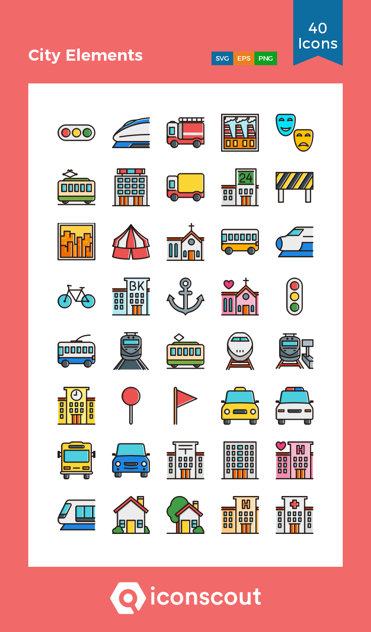 Download City Elements Icon Pack Available In Svg Png Eps Ai Icon Fonts Icon Pack Icon Icon Font