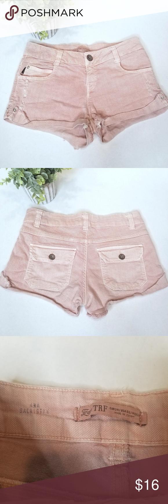 Zara Trf Pink Denim Cutoff Shorts 2 Zara Trafaluc Pink Denim Cutoff Shorts. Size 2.  Good Condition.   Waist 13.5 Hips 16 Inseam 1 3/4 Rise 7 3/4 Front Length 8.5 Back Length 10.5 Zara Shorts Jean Shorts #denimcutoffshorts Zara Trf Pink Denim Cutoff Shorts 2 Zara Trafaluc Pink Denim Cutoff Shorts. Size 2.  Good Condition.   Waist 13.5 Hips 16 Inseam 1 3/4 Rise 7 3/4 Front Length 8.5 Back Length 10.5 Zara Shorts Jean Shorts #denimcutoffshorts Zara Trf Pink Denim Cutoff Shorts 2 Zara Trafalu #denimcutoffshorts