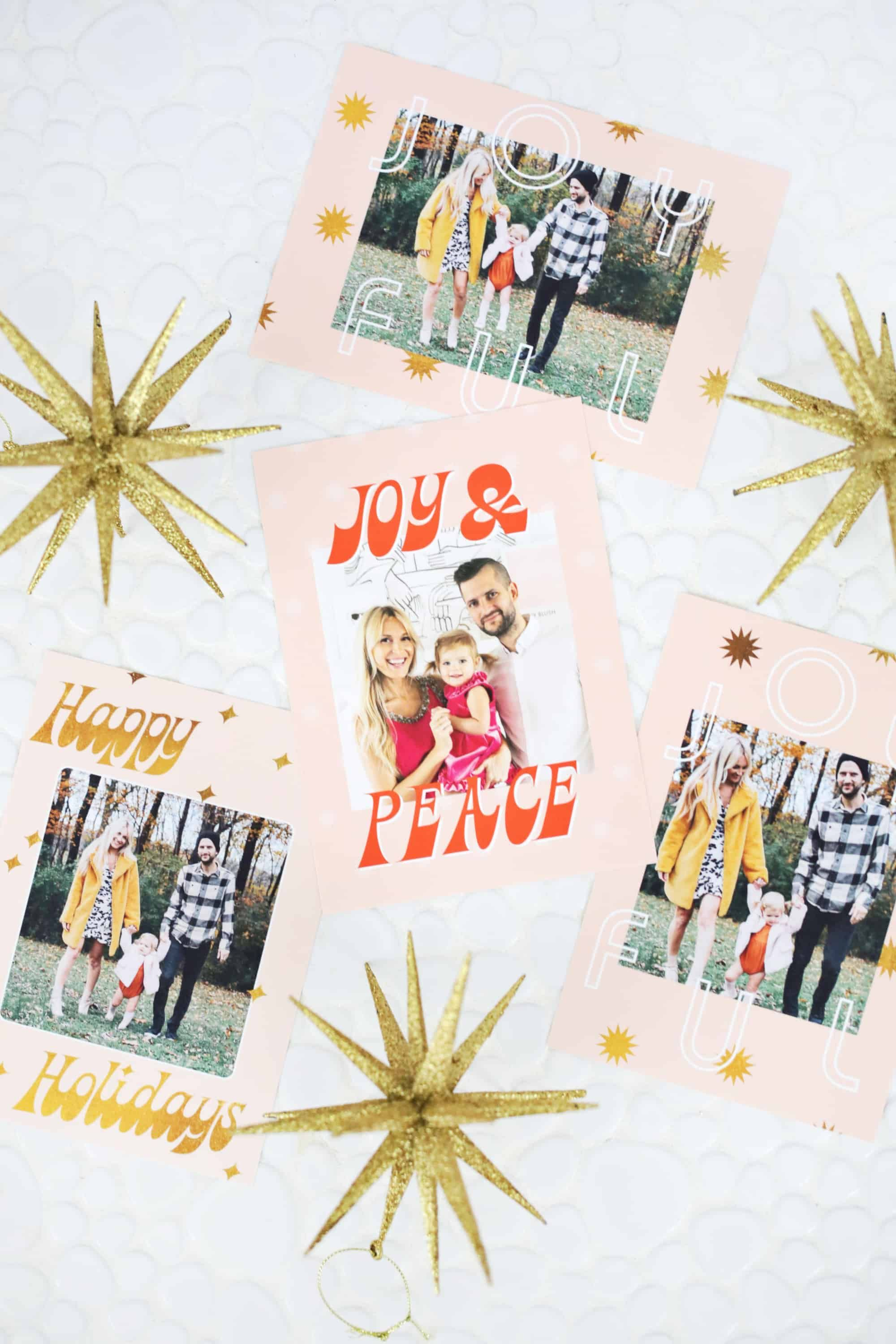 Print Your Own Holiday Cards Free Template Included