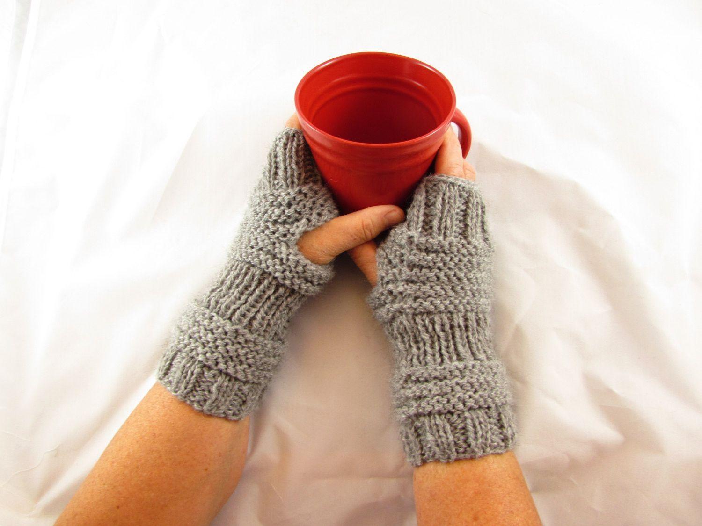Fingerless Mittens, Quick Easy Knitting Pattern PDF | Fingerless ...