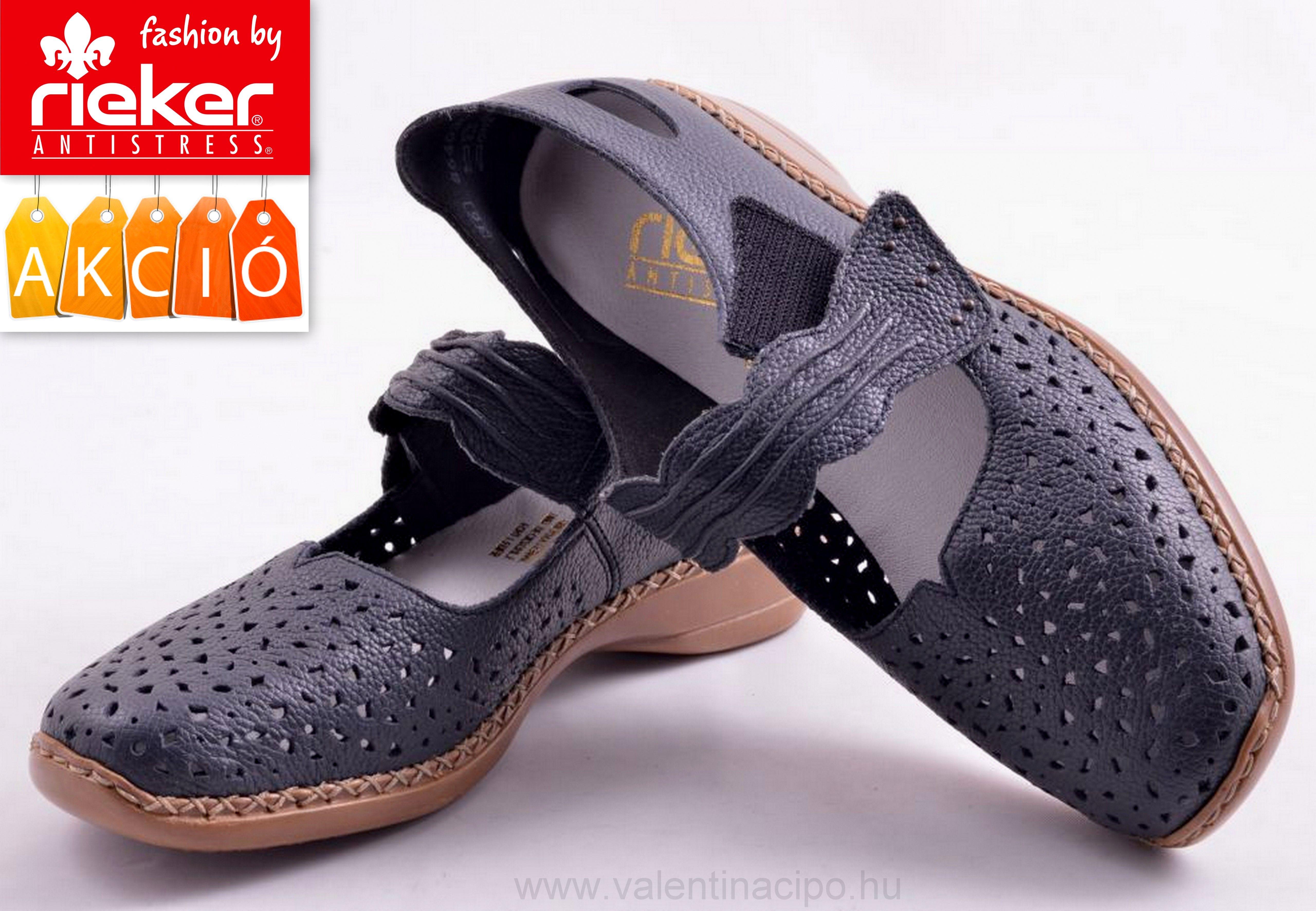 0fb75078ec Akciós Rieker női lyukacsos félcipő a nyár végi napokra! A Valentina  Cipőboltokban egyszerűen vásárolhat vagy