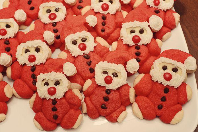 Roly Poly Santa Cookies Baking Christmas Cookie Party Santa