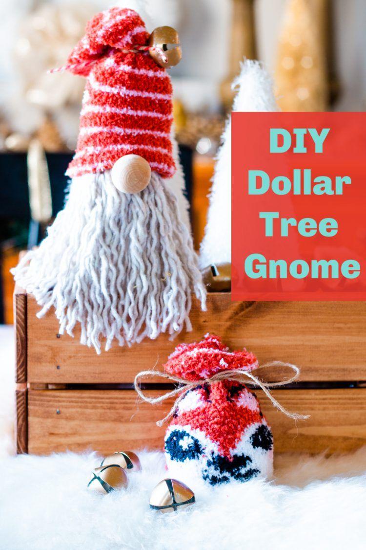 DIY Dollar Tree Gnome for Christmas Dollar tree crafts