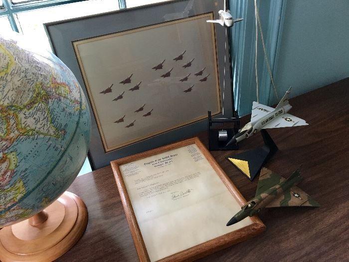 Found on EstateSalesNET Framed Photo of Jets - Letter from Charles