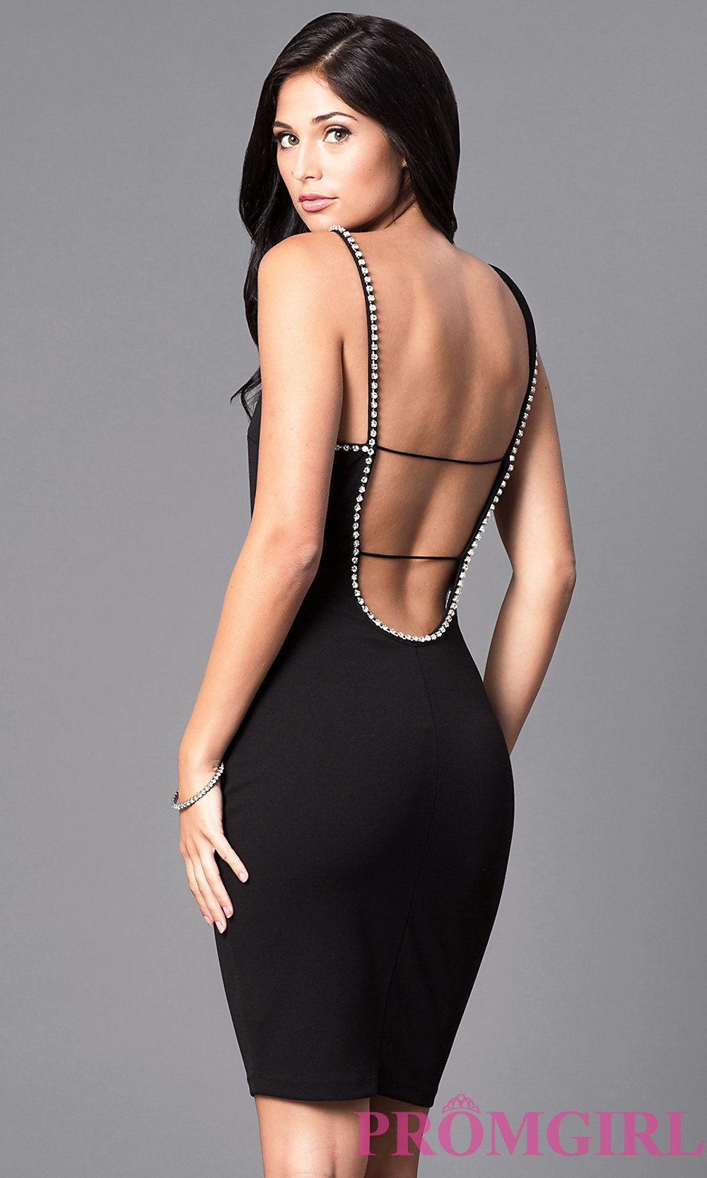 Knee-Length Fitted Open-Back Homecoming Party Dress | vestidos de ...