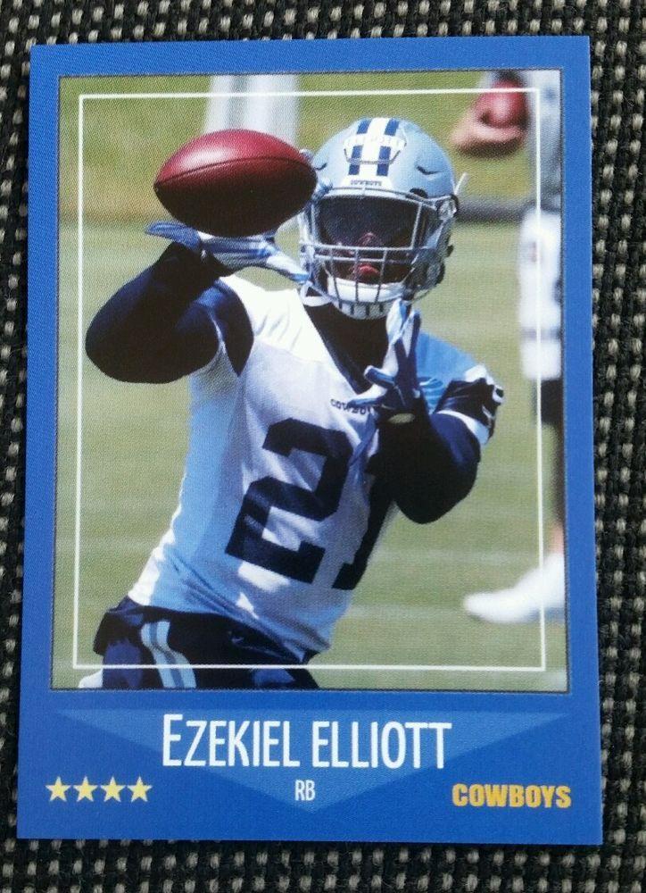 2016 ezekiel elliot dallas cowboys custom rookie card