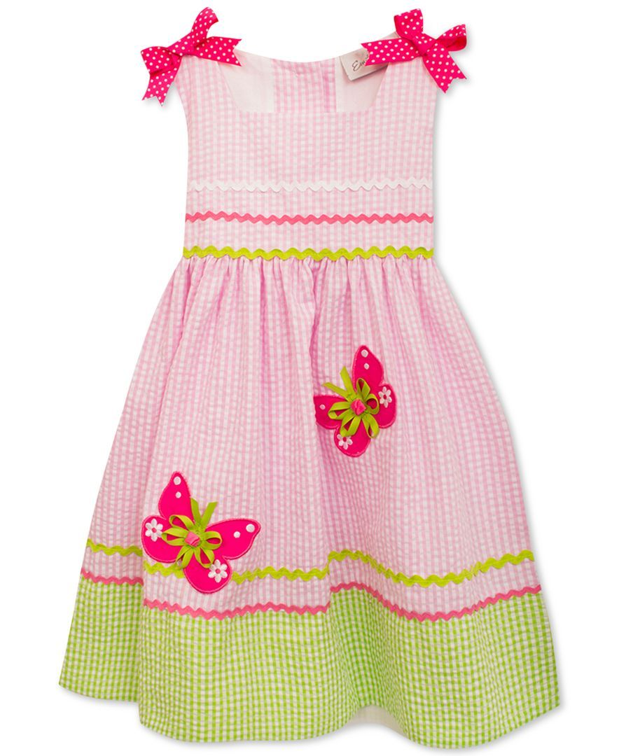 bee8e106fe9e Rare Editions Butterfly Seersucker Dress, Baby Girls | Adorable ...