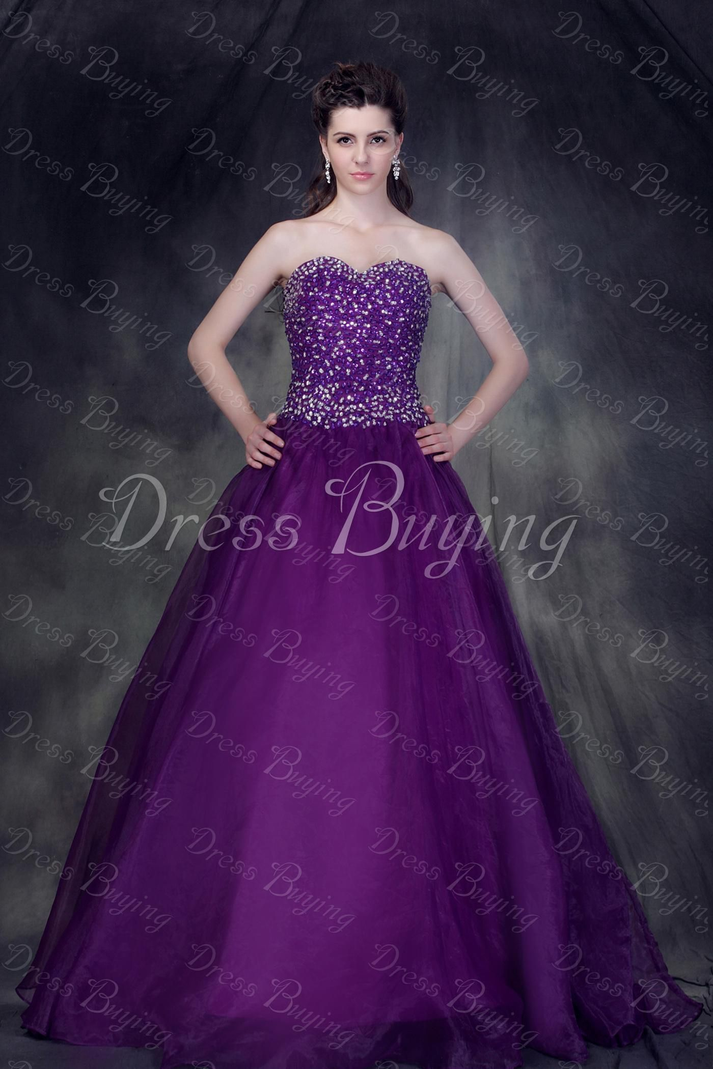 Elegant A-Line Floor-Length Strapless  Ball Gown/Quinceanera Dress —— US$ 178.99