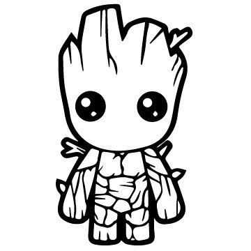 Image result for baby groot coloring page to make soon Coloring book vinyl