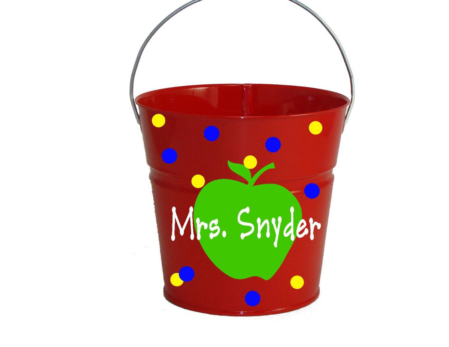 A Personal Favorite From My Etsy Shop Https Www Etsy Com Listing 467910660 Teacher Pail Metal Bucket With Handle 2 Metal Bucket Unicorn Easter Basket Etsy