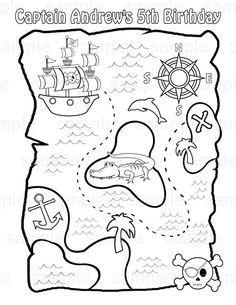 Mapa Del Tesoro Pirata Para Niños.Mapa Del Tesoro Pirata Pirata Mapa Imprimible Piratas