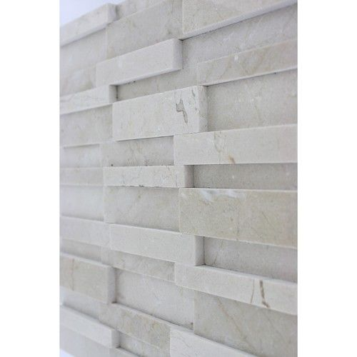 Illusion 3d Pattern Brick Crema Marfil   Shop Glass Tiles At  Glasstilestore.com