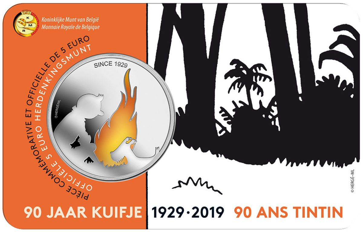 An Official Commemorative Coin For Tintin S 90th Birthday Tintin Commemoration Commemorative Coins