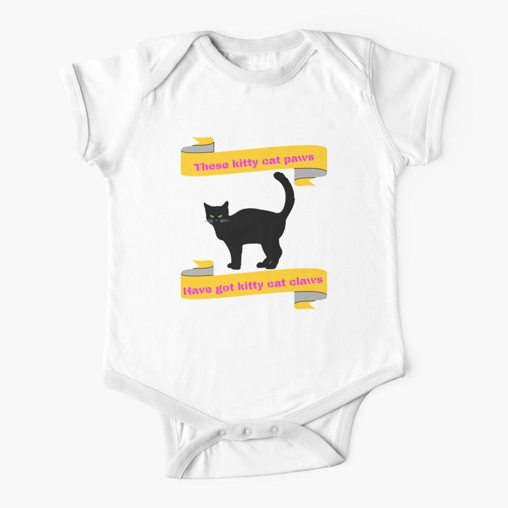 Kitty Cat Paws Fun Cat Original Design White Kids Clothes By Joserodrigues13 In 2020 Cat Paws Cool Cats Kitten Quotes