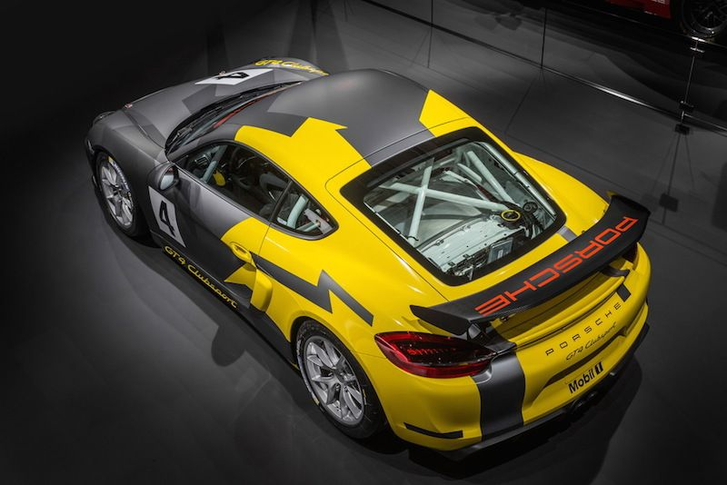 Porsche Cayman GT4 Clubsport - Weighing in at just 2,866 pounds (1,300 kg), the Cayman GT4 Clubsport, is a virtually turn-key racecar, delivered from the factory with a welded-in safety cage, a racing bucket seat as well as a six-point harness. The U.S. version comes with an 18.5 gal.or optional 26.5 gal. FIA FT3 safety fuel tank. The Clubsport also comes with a central fire extinguisher system. Price is $165,000