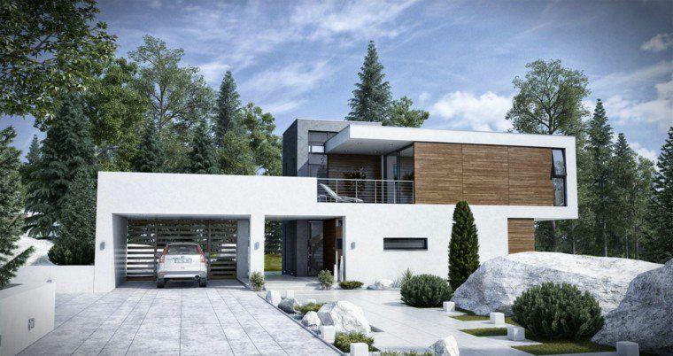 Aménagement extérieur maison  jardins d\u0027entrée modernes House