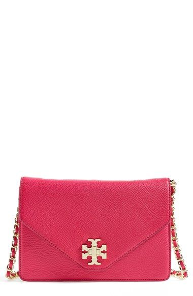 Tory Burch Kira Leather Crossbody Indian Rose Champagne Gold Color Not This Hot Pink Available At Nordstrom