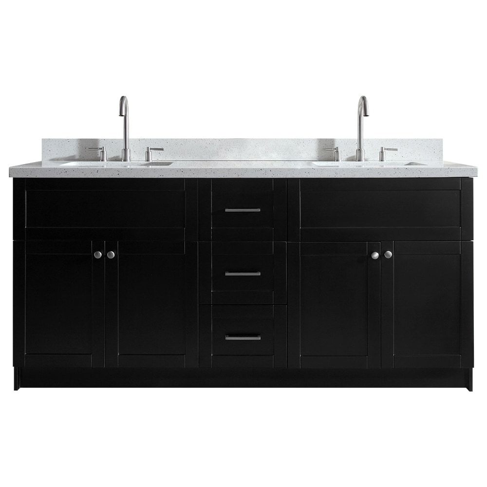 Ariel Hamlet 73 In Double Sink Vanity With White Quartz