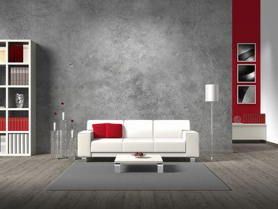 design : wandgestaltung wohnzimmer grau rot ~ inspirierende bilder, Wohnzimmer design