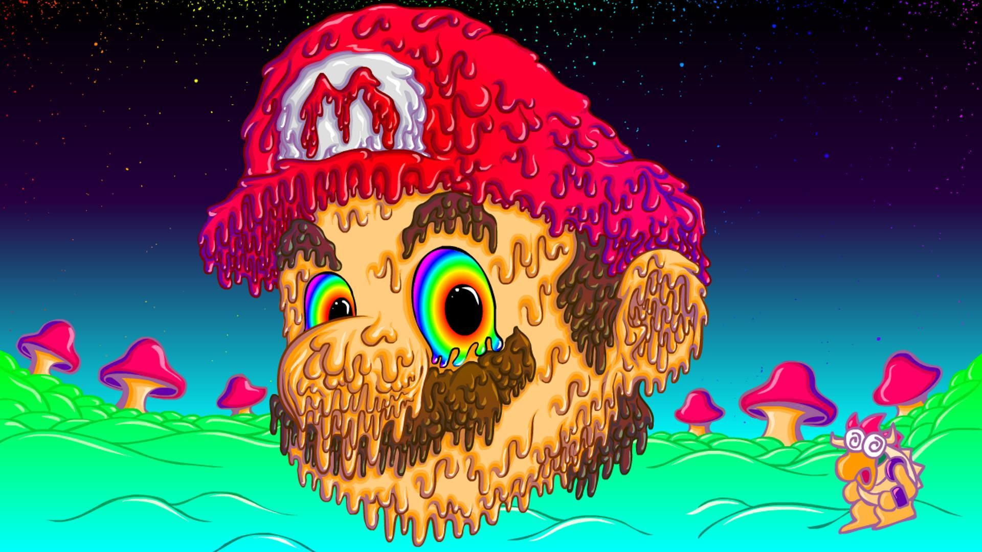 Trippy mario 1920x1080 wallpapers in 2019 trippy wallpaper trippy pictures trippy - Trippy acid pics ...