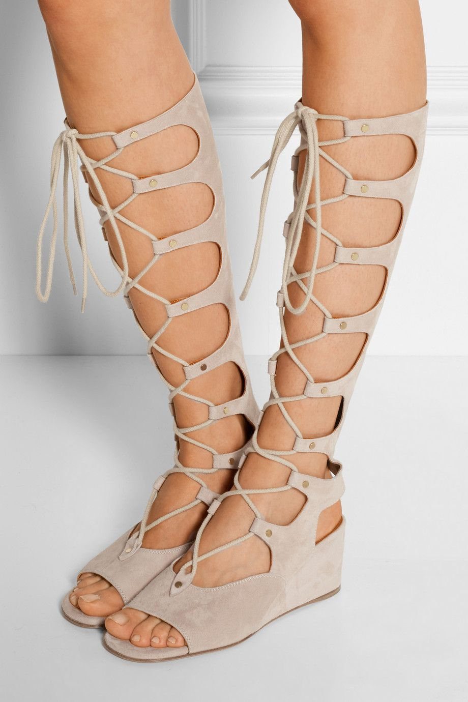 cheap low cost Chloé Lace-Up Wedge Sandals best place for sale clearance nicekicks clearance 2014 newest Fg7aKC