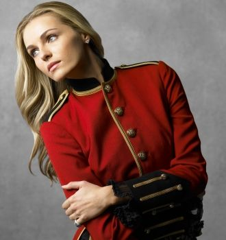 Womens Red Military Coat