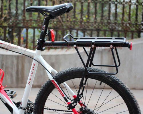 60kg V Disc Brake Bicycle Bike Alloy Rear Rack Carrier Luggage