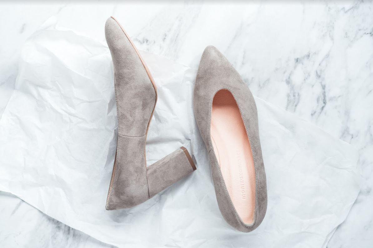 Zamszowe Czolenka Na Wysokim Obcasie Shoes Mule Shoe Fashion