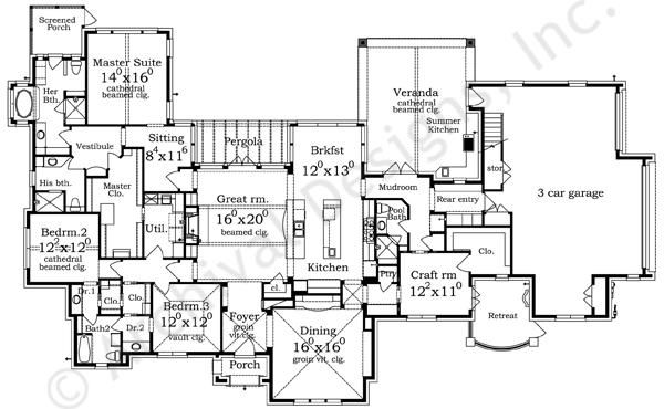 luxury houses plans designs - Luxury House Plans