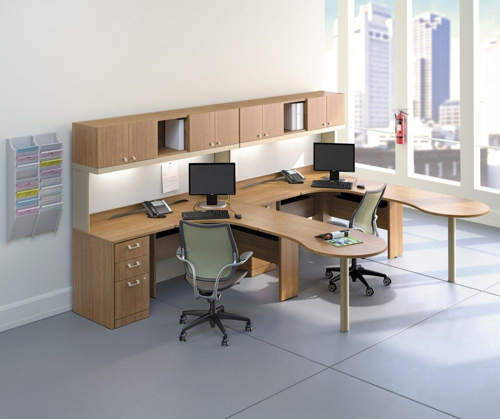 Dual Desk Set Office Workstations Workstation Desk Set