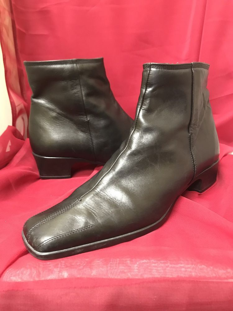 0a821bc15dbc SESTO MEUCCI ANKLE BOOT BLACK LEATHER SIZE 9 1 2 N SESTO SOFT SOLE ITALY   fashion  clothing  shoes  accessories  womensshoes  heels (ebay link)