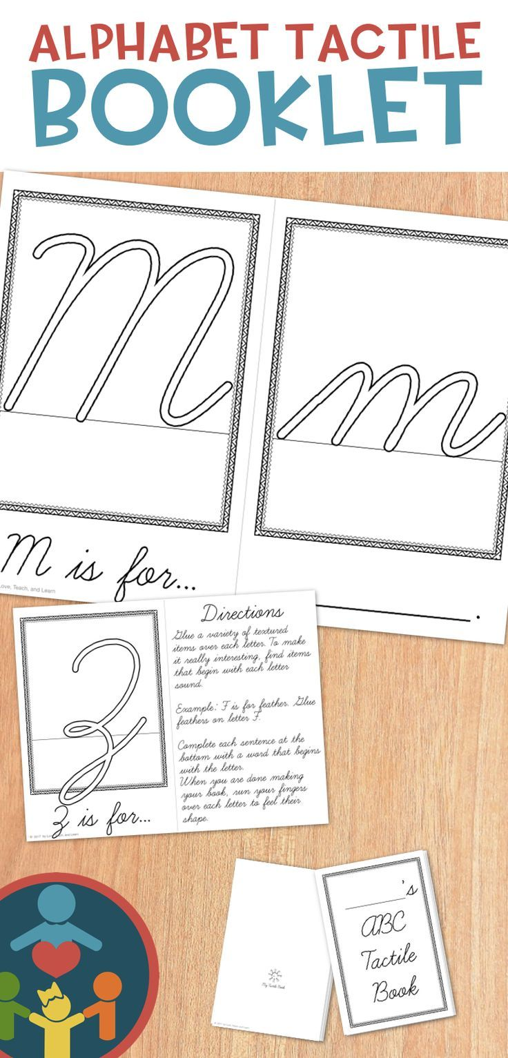 Alphabet Tactile Book Cursive Kinesthetic learning