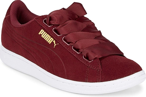 Red Color. Leather sneakers updated