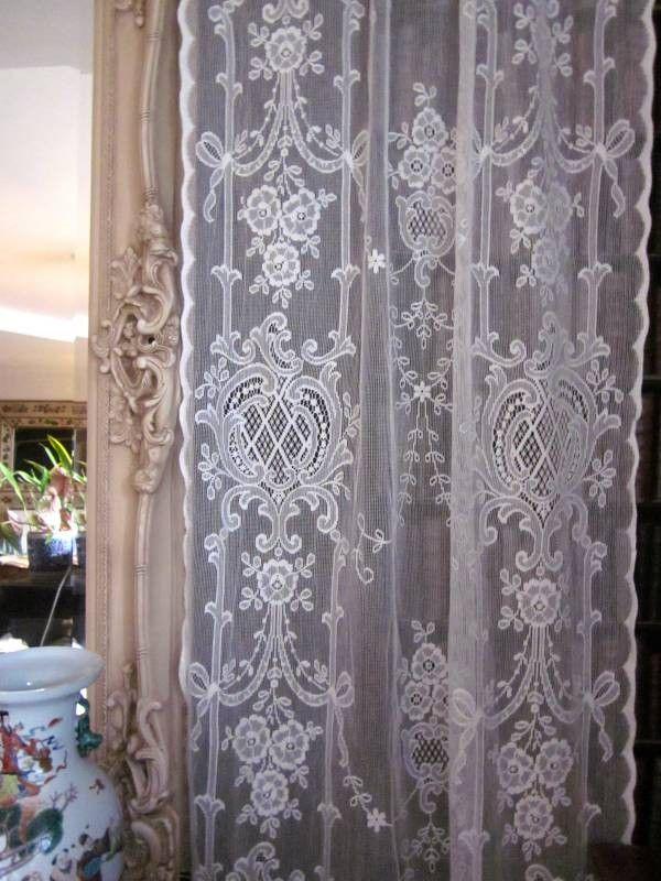 Highland Rose Olivia Victorian Style Cream Cotton Lace Curtain