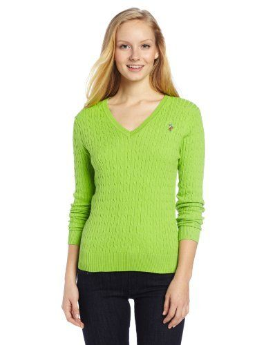 Industries Needs — U.S. Polo Assn. Women s Solid Cable Knit Sweater ... e972f733b