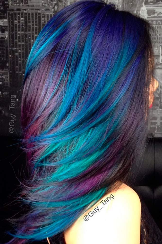50 Fabulous Purple And Blue Hair Styles Hair Hair