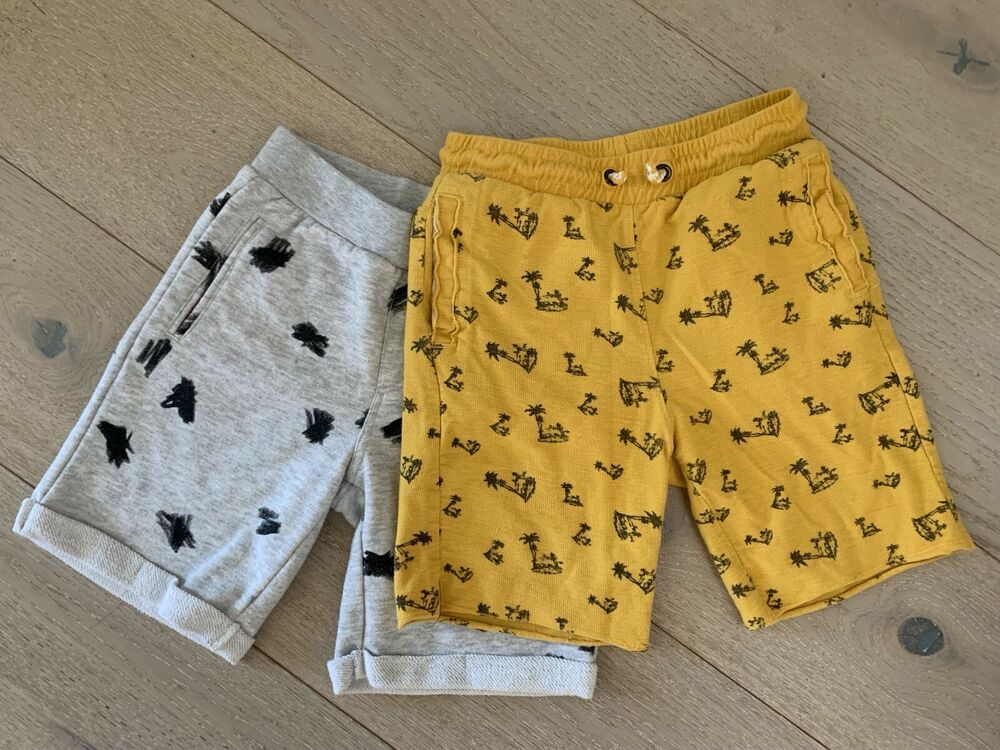 d5c62856293 Zara Kids Boys Pair of 2 Shorts for 8 years old Boy Cotton Grey and ...