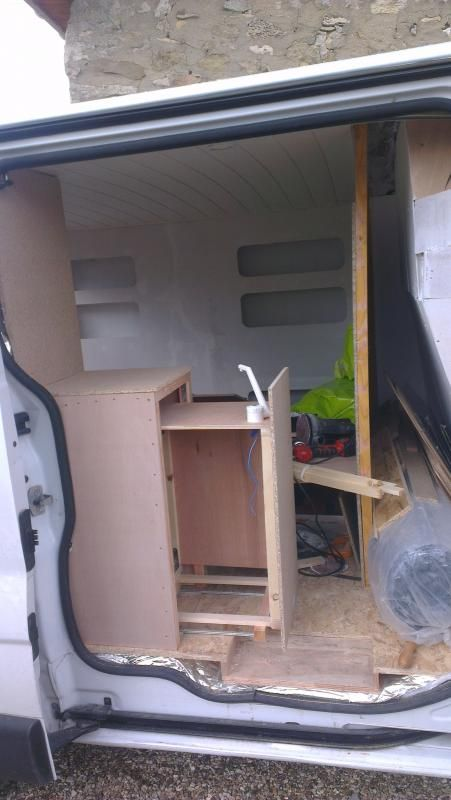 Evier Meuble Coulissant Amenagement Camionette Fourgon