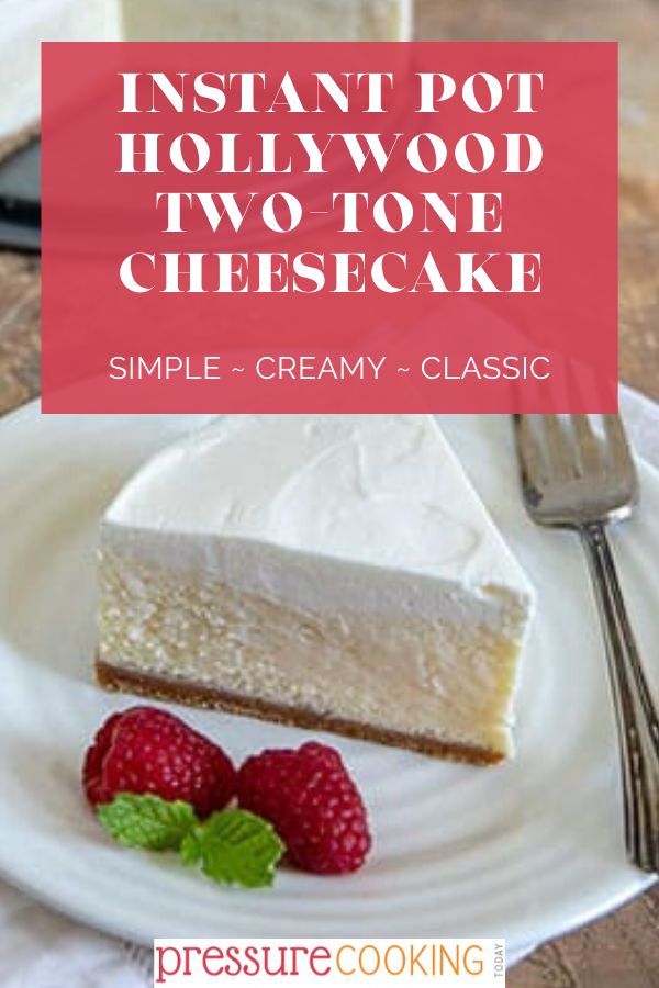 Pressure Cooker Hollywood Two Tone Cheesecake Pressure Cooking Today Recipe In 2020 Basic Cheesecake Recipe Cheesecake Sour Cream Cheesecake