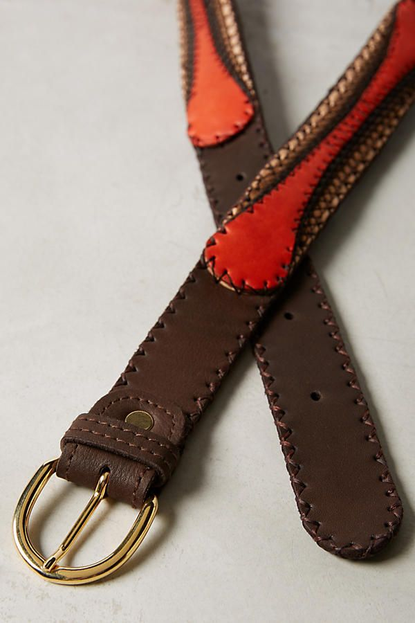 Slide View: 2: Deco Leather Belt