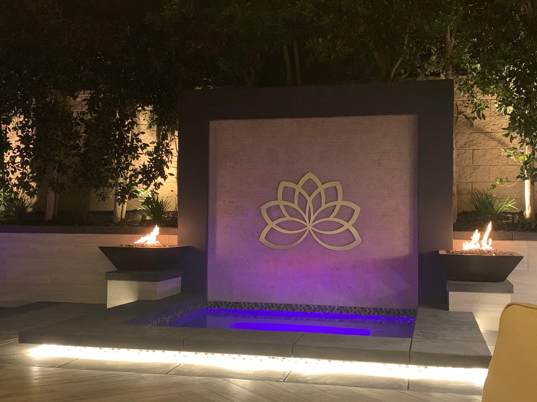 Lotus Flower Outdoor Metal Wall Art Sculpture Modern Home Decor