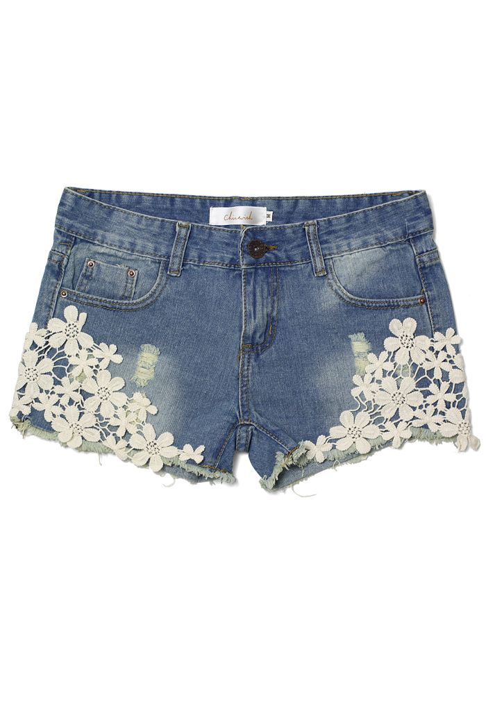 Cute Way To Decorate Some Cut Off Jean Shorts My Style Fashion