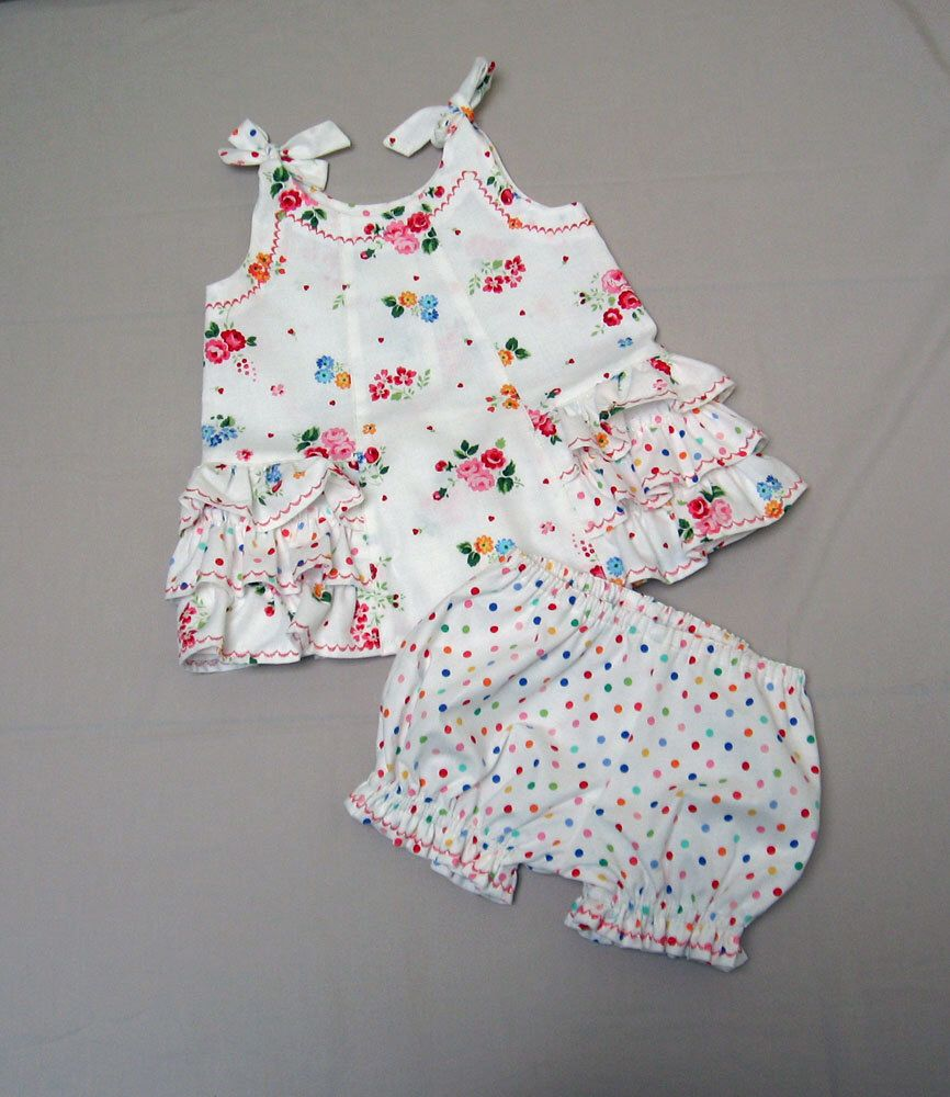 Sunny Dress and Bloomers, girl\'s dress PDF sewing pattern sizes 3 ...