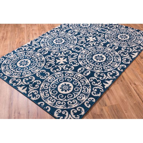 Found It At Wayfair Ca Sydney Petra Palatial Navy Blue Area Rug Mediterranean Decor Mediterranean Tile Well Woven