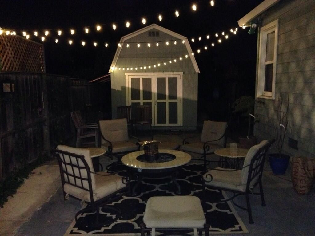 Customer Karina submitted this photo of commercial LED Edison string lights  hung over her patio. - Customer Karina Submitted This Photo Of Commercial LED Edison