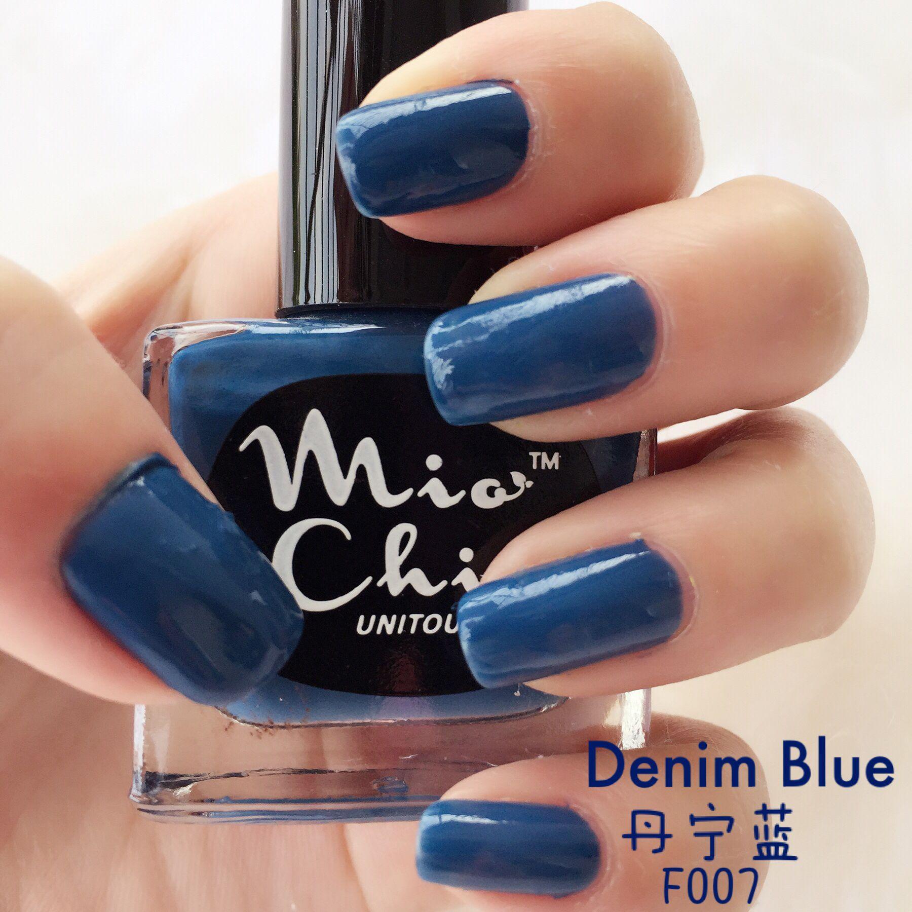 Peel off water base Nail Polish ( MioChic ) - #F007 Denim Blue ...